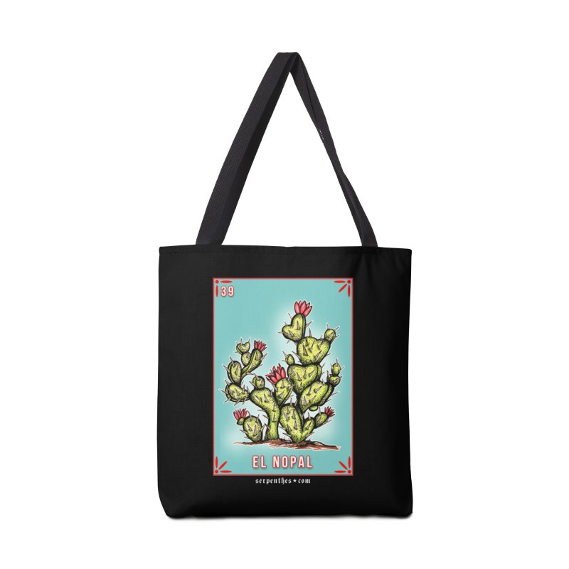 Lotería Serpenthes : Card No. 39 : El Nopal Accessories Bag by serpenthes's Artist Shop