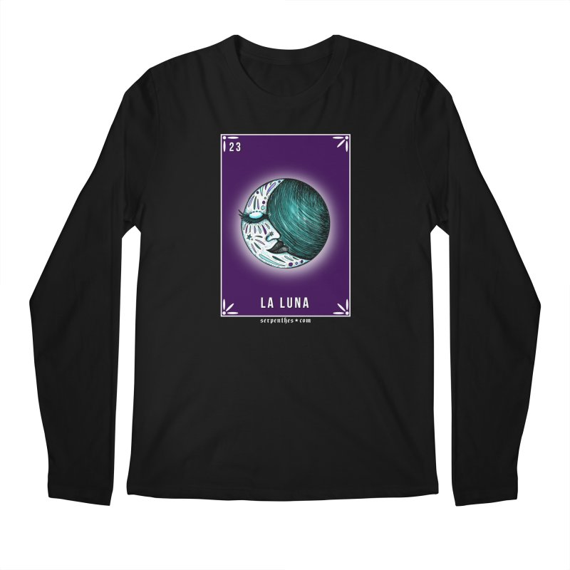 Lotería Serpenthes : Card No. 23 : La Luna Men's Longsleeve T-Shirt by serpenthes's Artist Shop