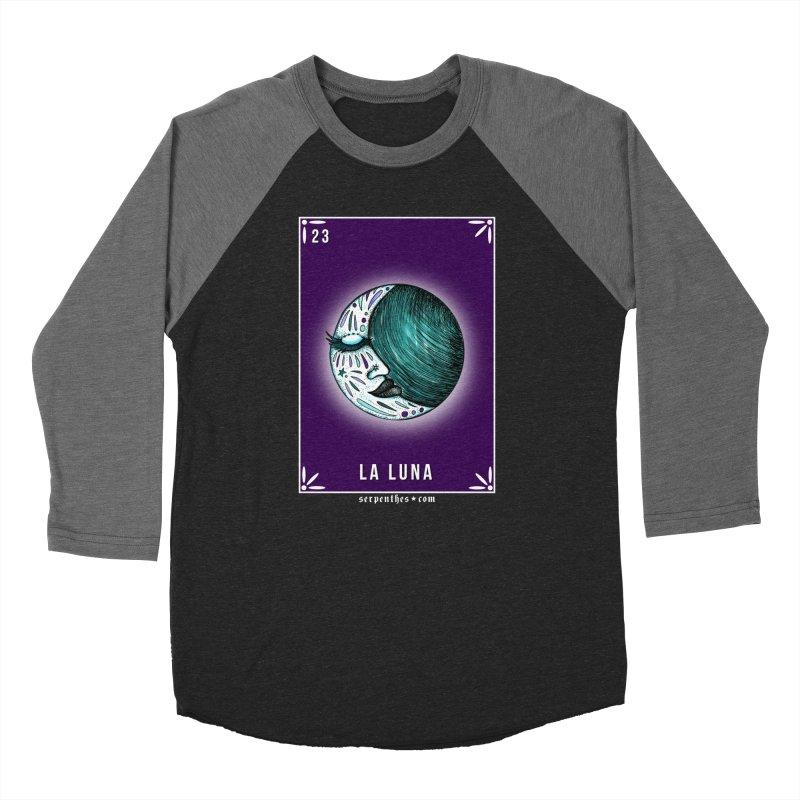 Lotería Serpenthes : Card No. 23 : La Luna Women's Baseball Triblend T-Shirt by serpenthes's Artist Shop