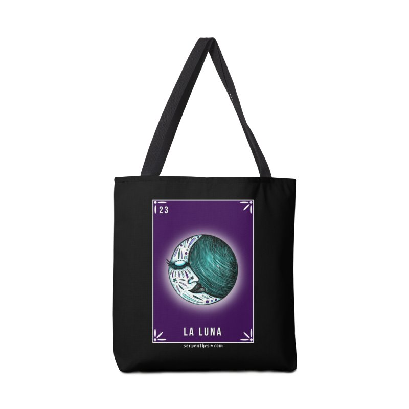 Lotería Serpenthes : Card No. 23 : La Luna Accessories Bag by serpenthes's Artist Shop