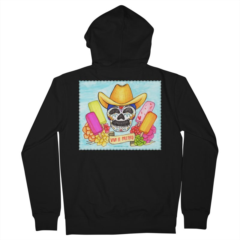 VIVA EL PALETERO Men's French Terry Zip-Up Hoody by serpenthes's Artist Shop