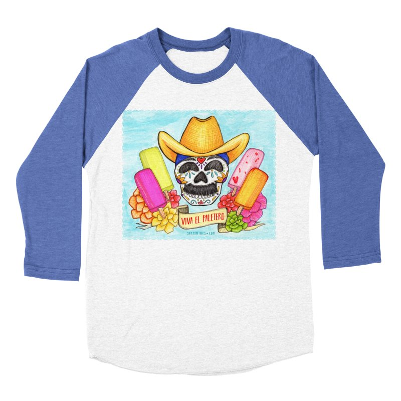 VIVA EL PALETERO Men's Baseball Triblend Longsleeve T-Shirt by serpenthes's Artist Shop