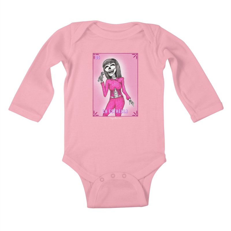 Loteria Serpenthes - La Estrella - Selena Kids Baby Longsleeve Bodysuit by serpenthes's Artist Shop