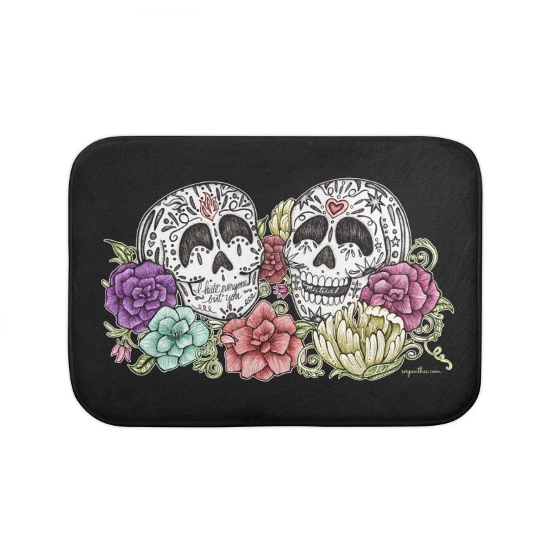 I Hate Everyone But You Home Bath Mat by serpenthes's Artist Shop