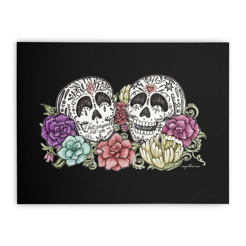 I Hate Everyone But You Home Stretched Canvas by serpenthes's Artist Shop