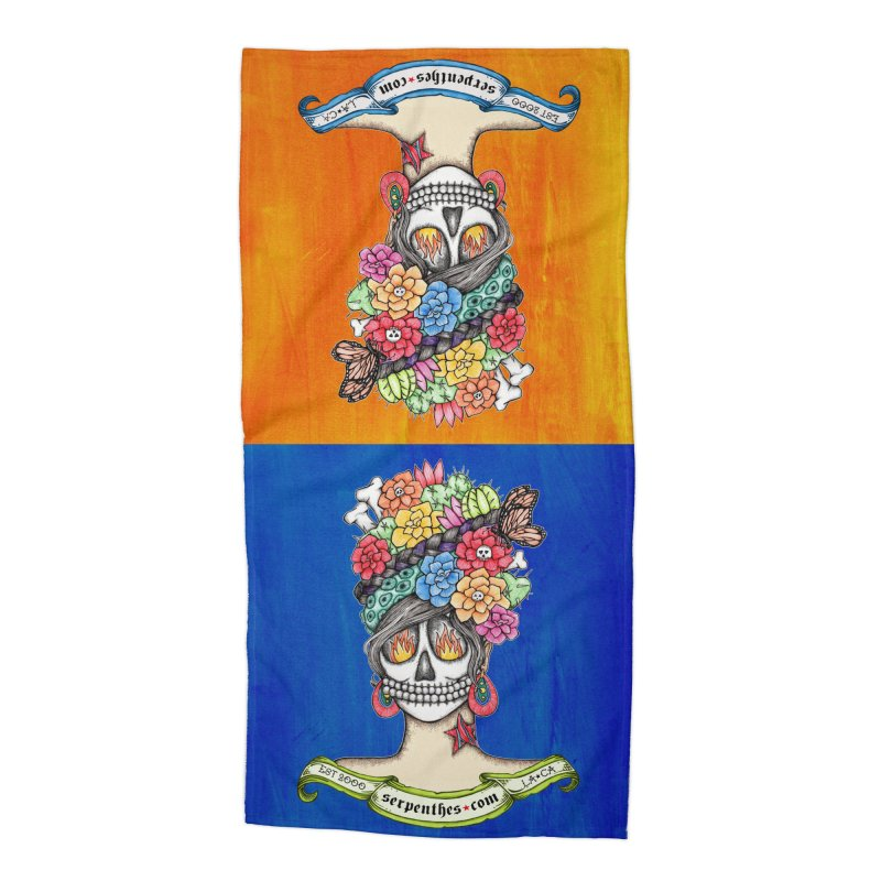 Ruiz 1980-2015 on Blue Accessories Beach Towel by serpenthes's Artist Shop