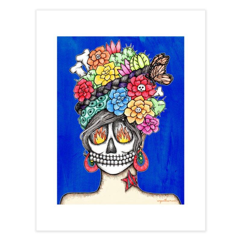 Ruiz 1980-2015 on Blue Home Fine Art Print by serpenthes's Artist Shop