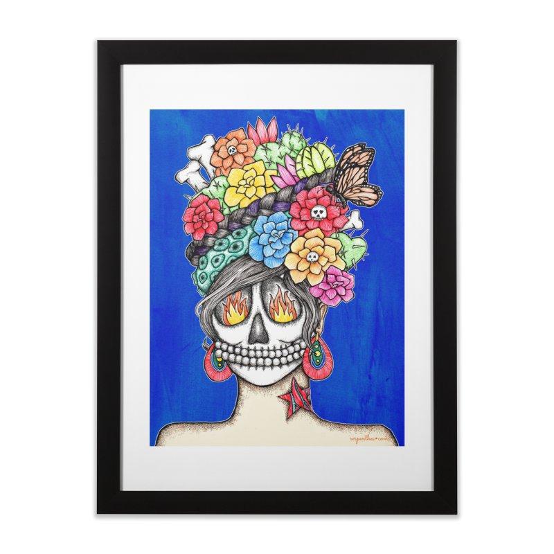 Ruiz 1980-2015 on Blue Home Framed Fine Art Print by serpenthes's Artist Shop