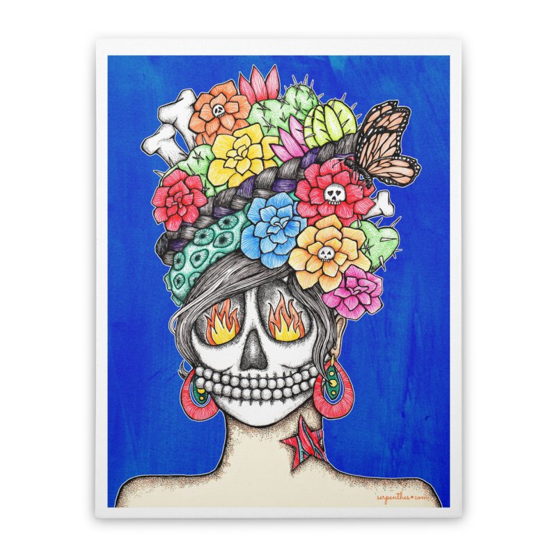 Ruiz 1980-2015 on Blue Home Stretched Canvas by serpenthes's Artist Shop