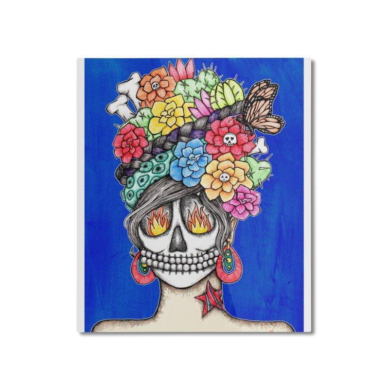 Ruiz 1980-2015 on Blue Home Mounted Aluminum Print by serpenthes's Artist Shop