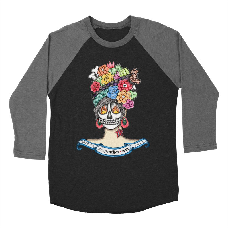 Ruiz 1980-2015 on Blue Men's Baseball Triblend Longsleeve T-Shirt by serpenthes's Artist Shop