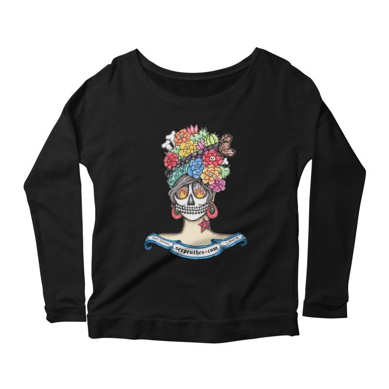 Ruiz 1980-2015 on Blue Women's Longsleeve Scoopneck  by serpenthes's Artist Shop