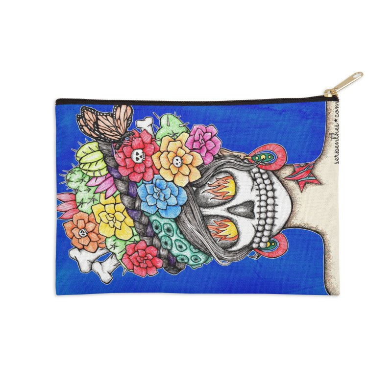 Ruiz 1980-2015 on Blue Accessories Zip Pouch by serpenthes's Artist Shop