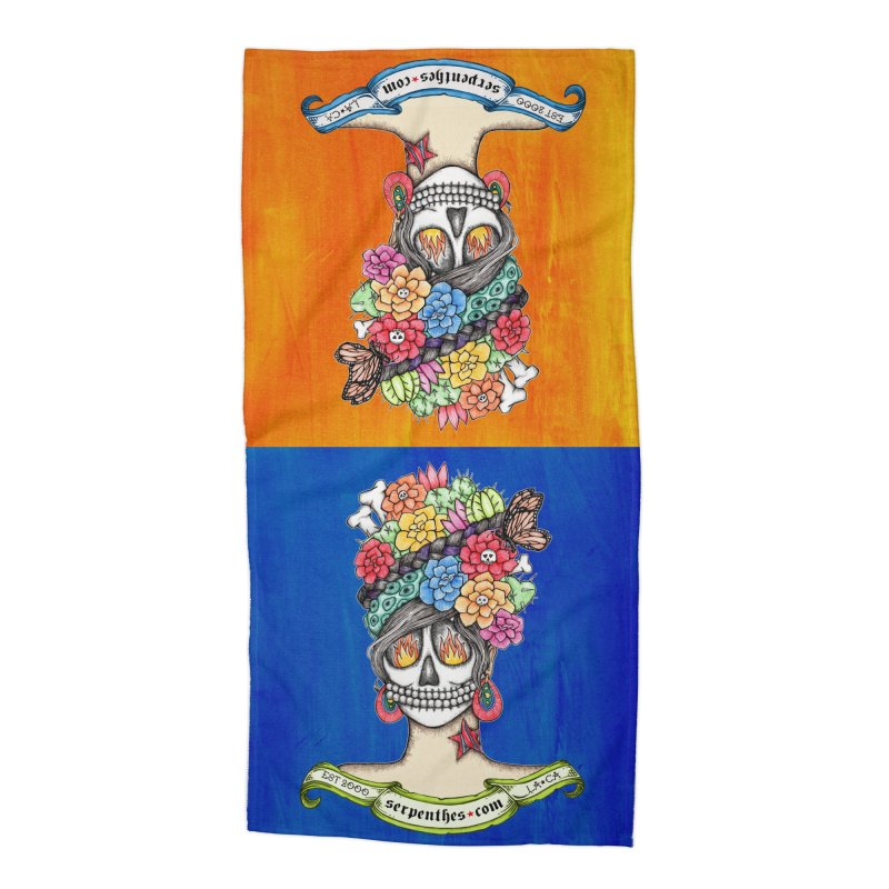 Ruiz 1980 - 2015 in Fire Accessories Beach Towel by serpenthes's Artist Shop