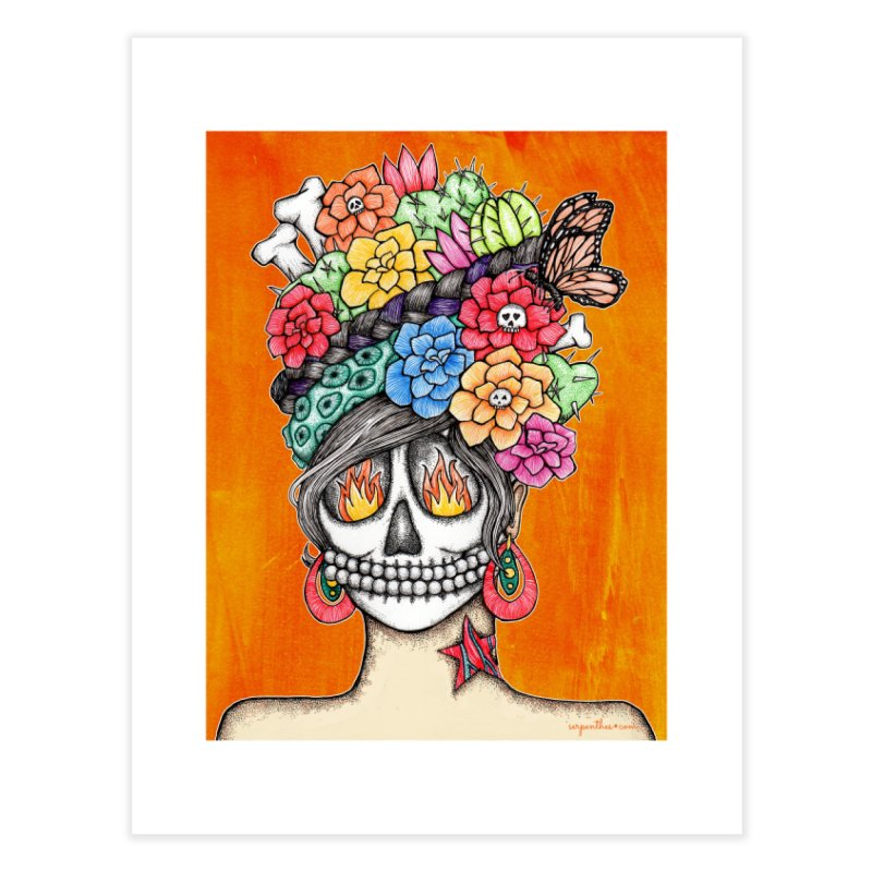 Ruiz 1980 - 2015 in Fire Home Fine Art Print by serpenthes's Artist Shop