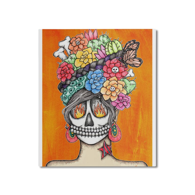 Ruiz 1980 - 2015 in Fire Home Mounted Aluminum Print by serpenthes's Artist Shop