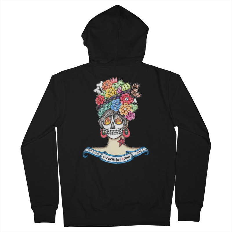 Ruiz 1980 - 2015 in Fire Women's French Terry Zip-Up Hoody by serpenthes's Artist Shop