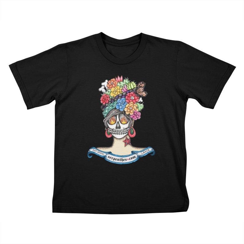 Ruiz 1980 - 2015 in Fire Kids T-Shirt by serpenthes's Artist Shop