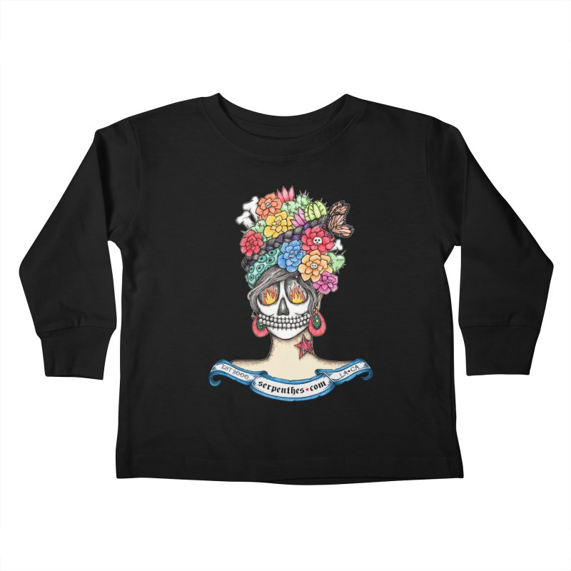 Ruiz 1980 - 2015 in Fire Kids Toddler Longsleeve T-Shirt by serpenthes's Artist Shop