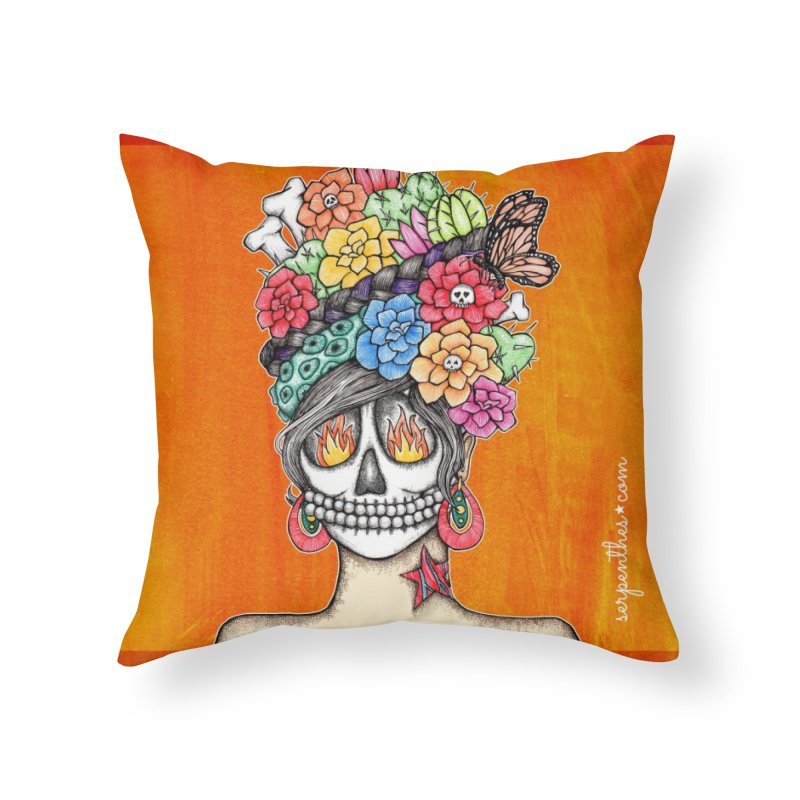 Ruiz 1980 - 2015 in Fire Home Throw Pillow by serpenthes's Artist Shop