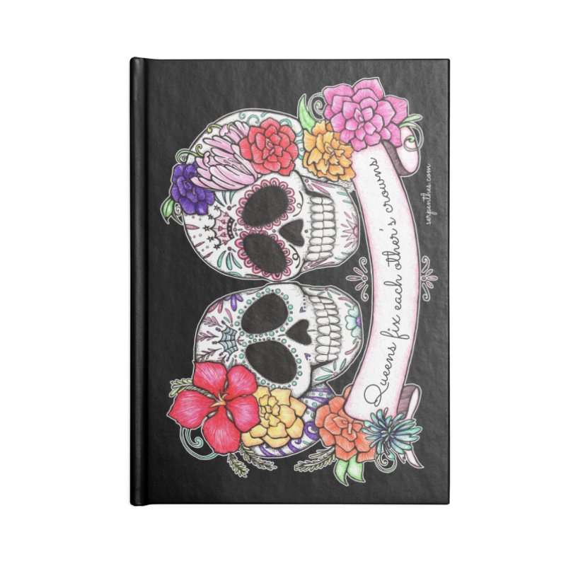 QUEENS in Noir Accessories Notebook by serpenthes's Artist Shop