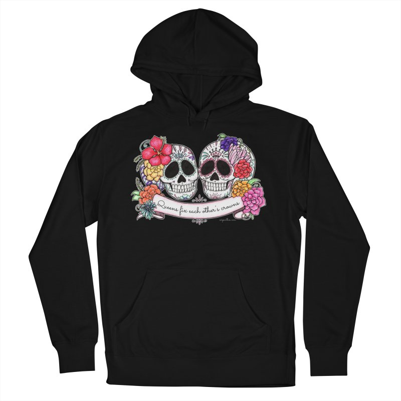 QUEENS in Noir Men's French Terry Pullover Hoody by serpenthes's Artist Shop
