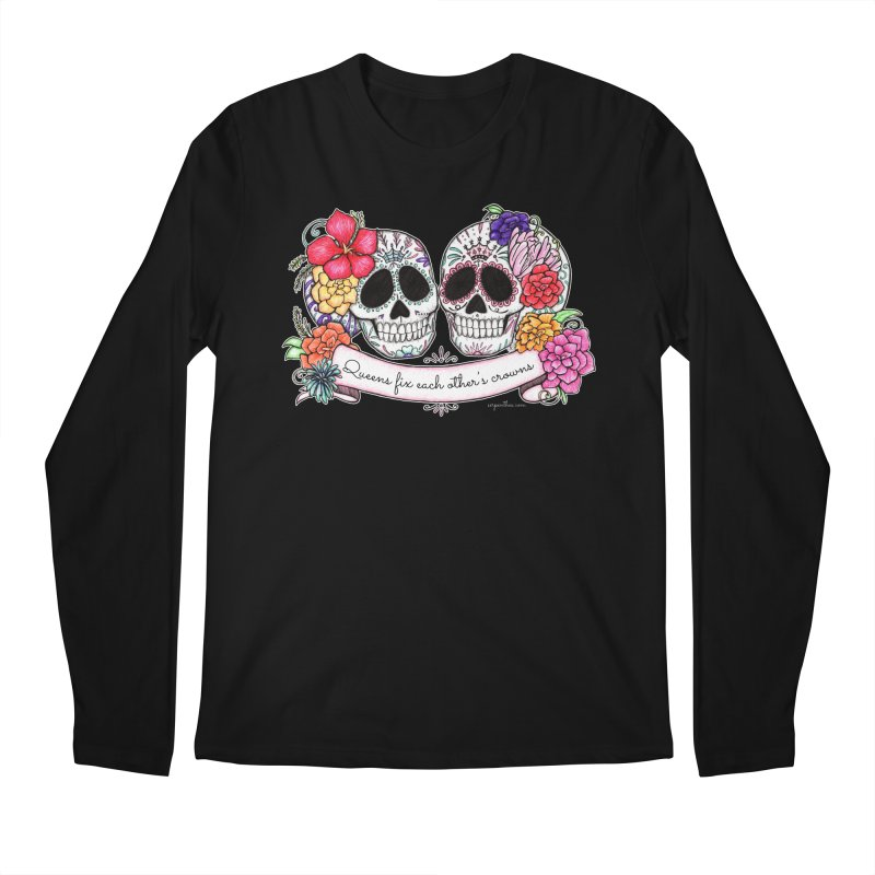 QUEENS in Noir Men's Regular Longsleeve T-Shirt by serpenthes's Artist Shop
