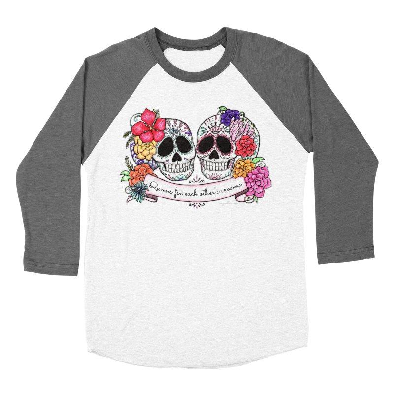 QUEENS in Noir Women's Baseball Triblend Longsleeve T-Shirt by serpenthes's Artist Shop