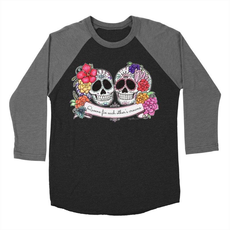 QUEENS in Noir Women's Baseball Triblend T-Shirt by serpenthes's Artist Shop