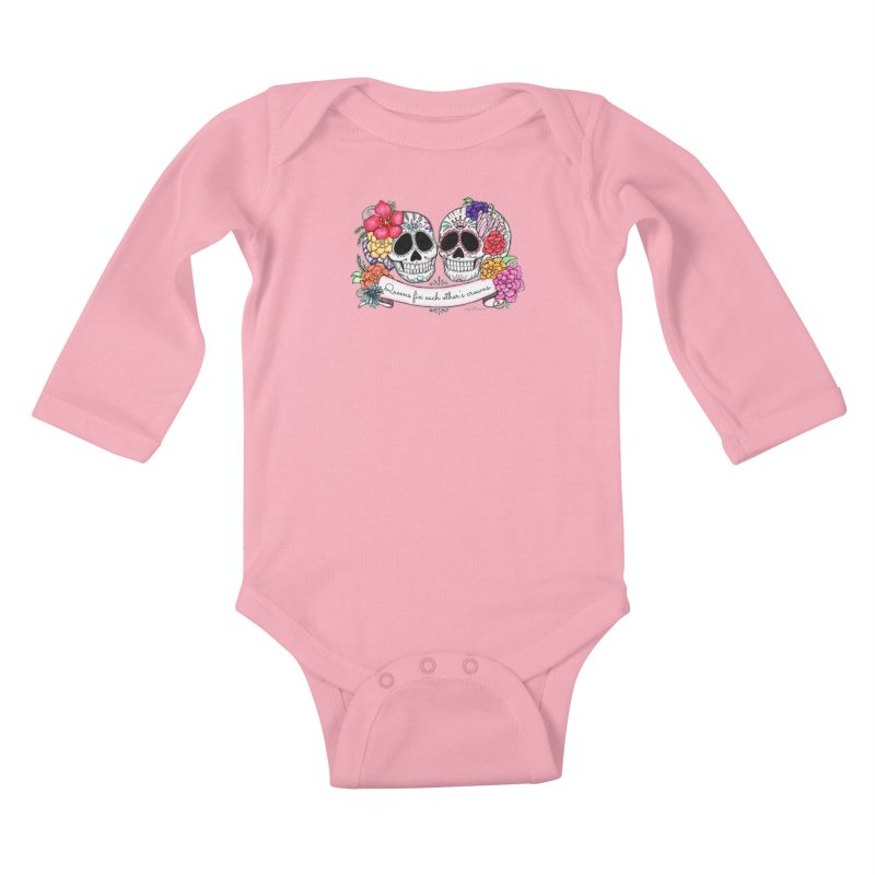 QUEENS in Noir Kids Baby Longsleeve Bodysuit by serpenthes's Artist Shop