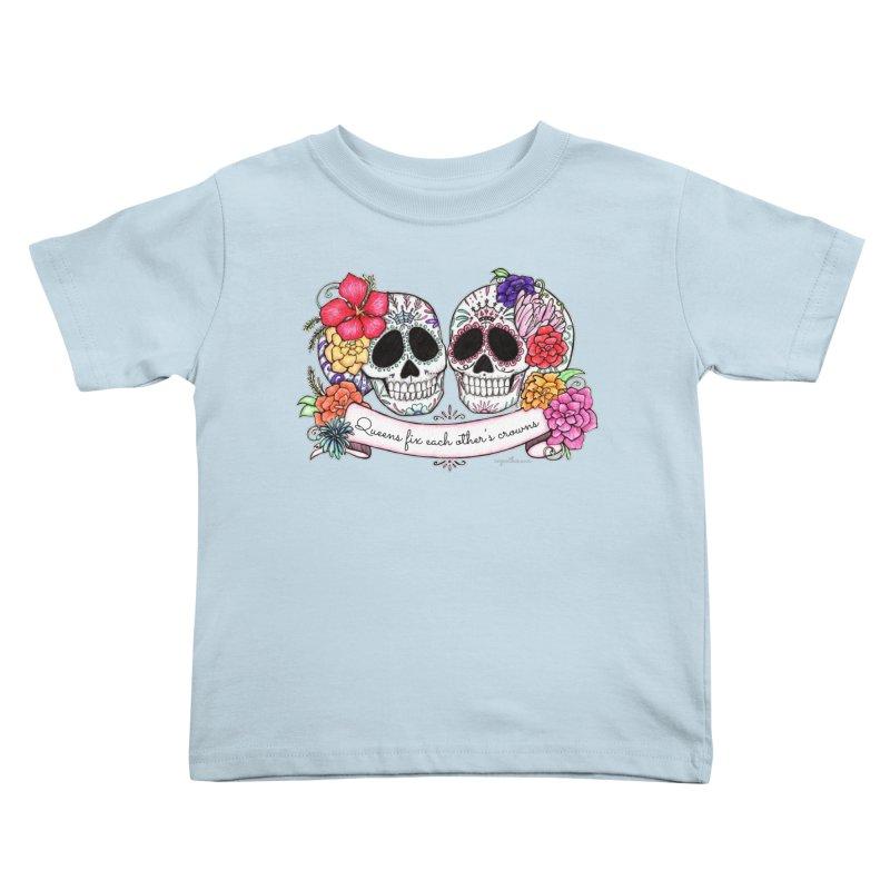 QUEENS in Noir Kids Toddler T-Shirt by serpenthes's Artist Shop