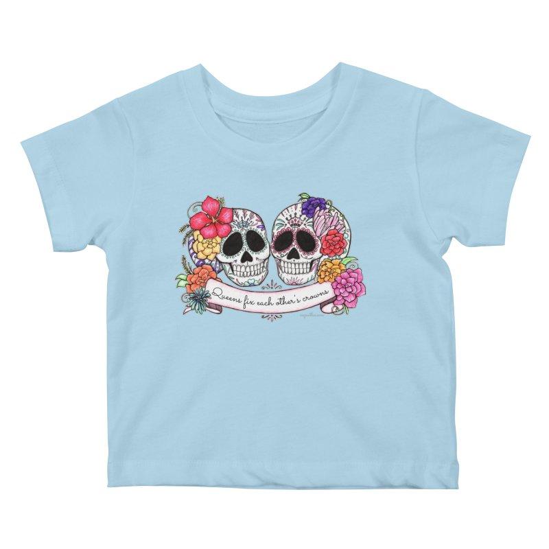 QUEENS in Noir Kids Baby T-Shirt by serpenthes's Artist Shop