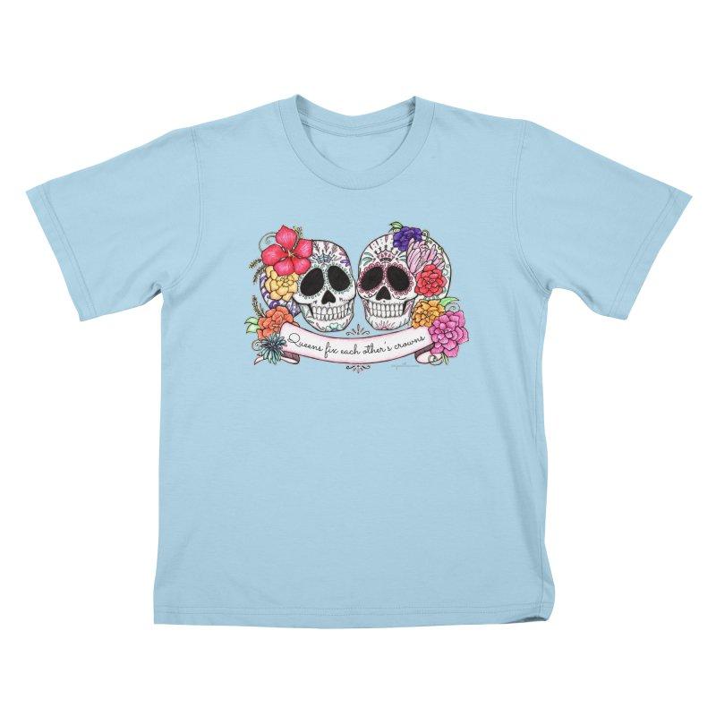 QUEENS in Noir Kids T-Shirt by serpenthes's Artist Shop