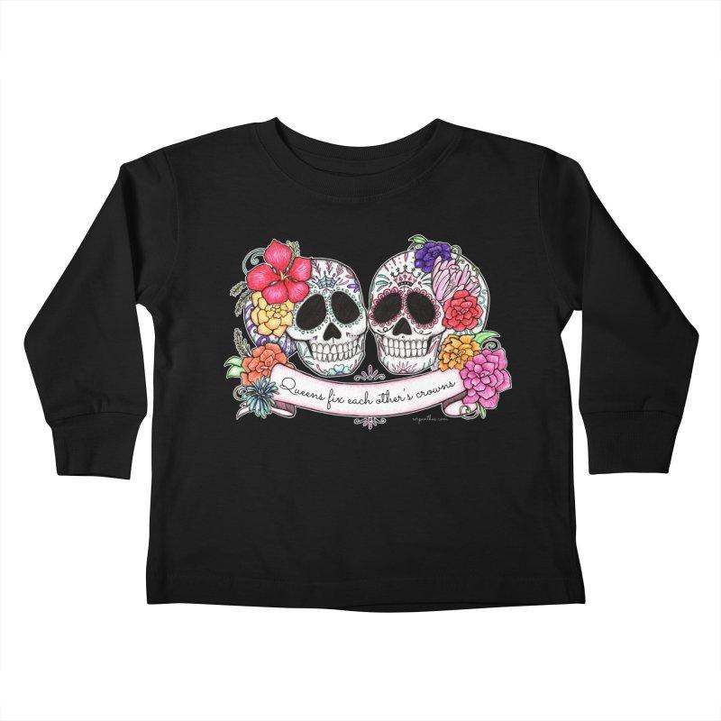 QUEENS in Noir Kids Toddler Longsleeve T-Shirt by serpenthes's Artist Shop