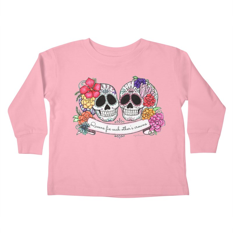QUEENS in Noir Kids Toddler Longsleeve T-Shirt by serpenthes's Artist Shop