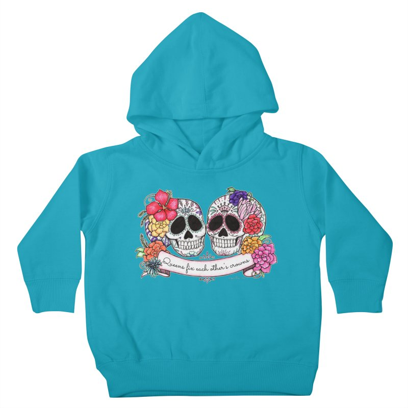 QUEENS in Noir Kids Toddler Pullover Hoody by serpenthes's Artist Shop