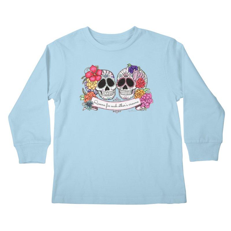 QUEENS in Noir Kids Longsleeve T-Shirt by serpenthes's Artist Shop