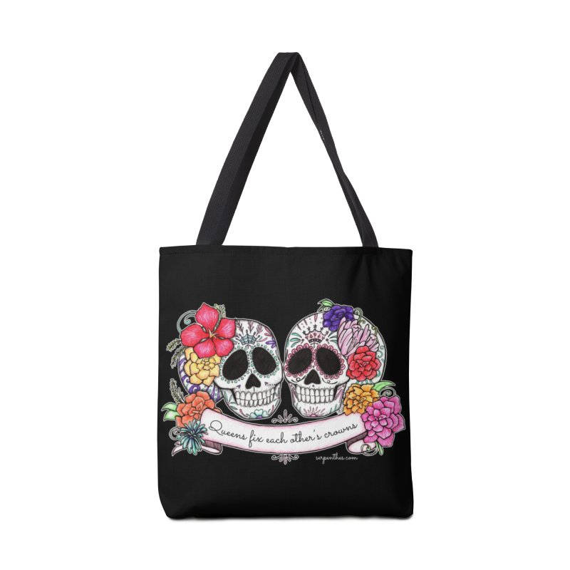 QUEENS in Noir Accessories Tote Bag Bag by serpenthes's Artist Shop
