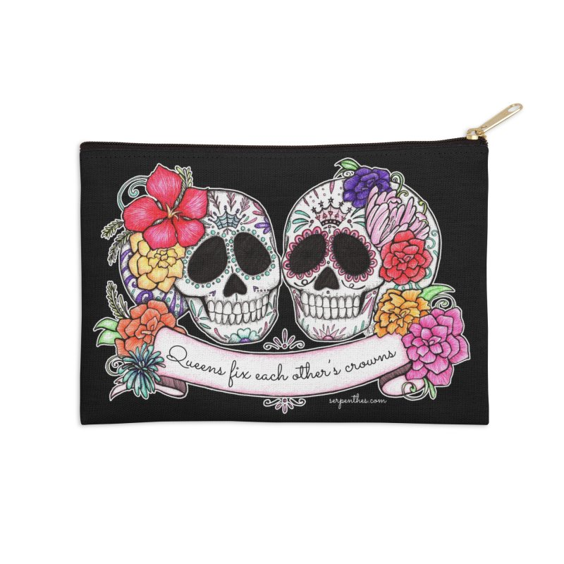 QUEENS in Noir Accessories Zip Pouch by serpenthes's Artist Shop