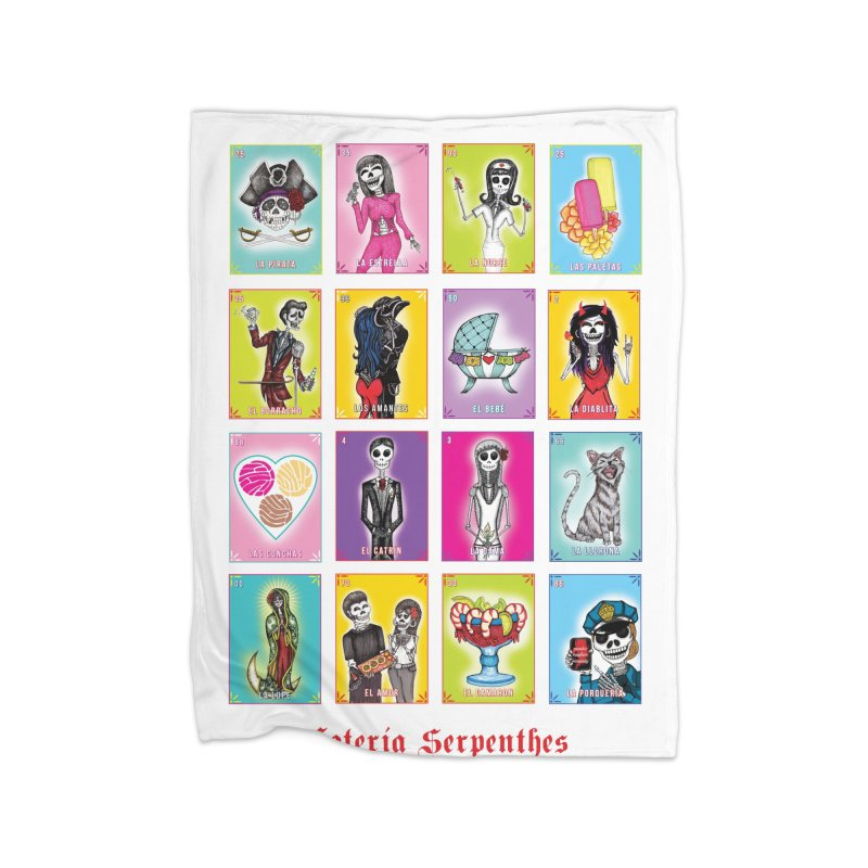 WHITE / Loteria Serpenthes / Card 2 Home Blanket by serpenthes's Artist Shop