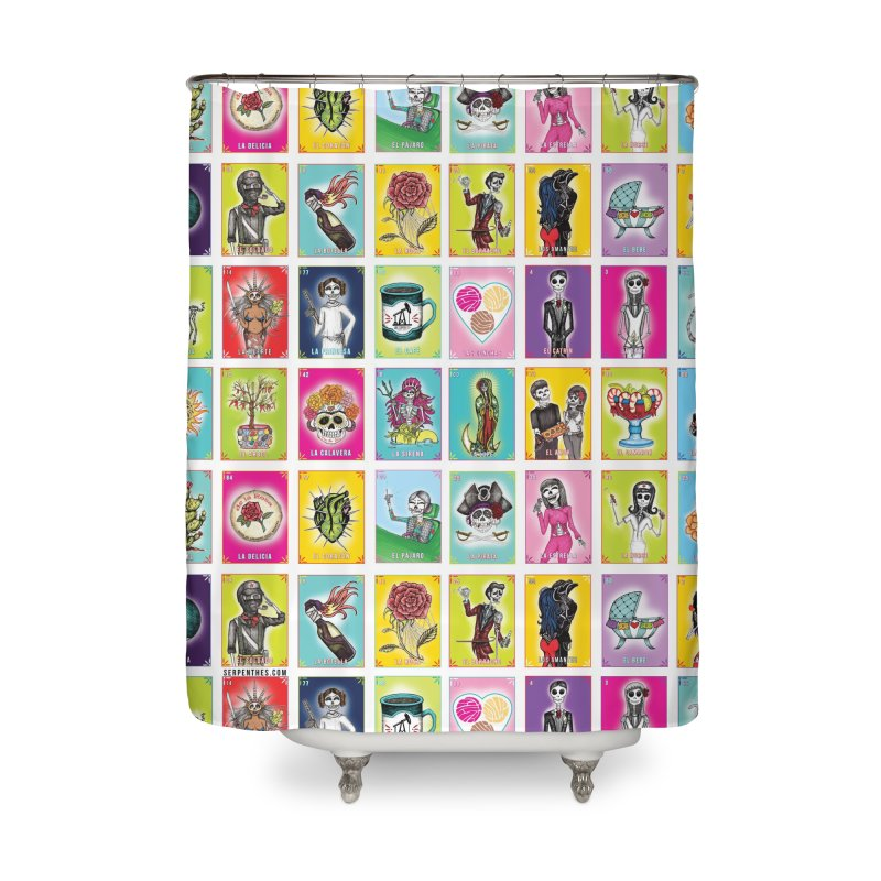 WHITE / Loteria Serpenthes / Card 2 Home Shower Curtain by serpenthes's Artist Shop