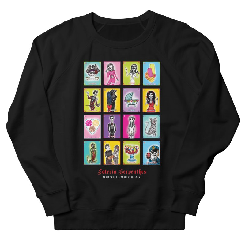 BLACK / Loteria Serpenthes, Card No. 2 Men's French Terry Sweatshirt by serpenthes's Artist Shop