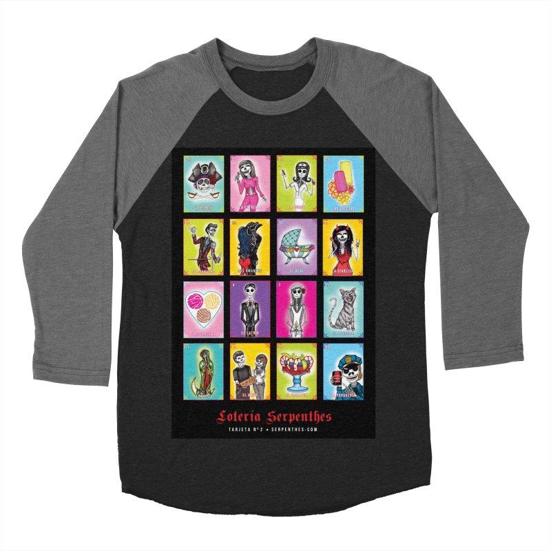 BLACK / Loteria Serpenthes, Card No. 2 Women's Baseball Triblend Longsleeve T-Shirt by serpenthes's Artist Shop
