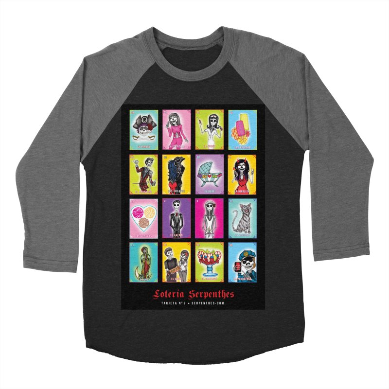 BLACK / Loteria Serpenthes, Card No. 2 Men's Baseball Triblend Longsleeve T-Shirt by serpenthes's Artist Shop