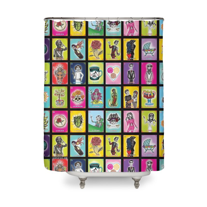 BLACK / Loteria Serpenthes, Card No. 2 Home Shower Curtain by serpenthes's Artist Shop