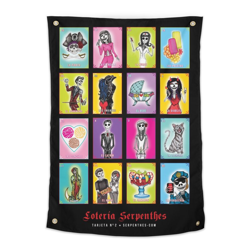 BLACK / Loteria Serpenthes, Card No. 2 Home Tapestry by serpenthes's Artist Shop