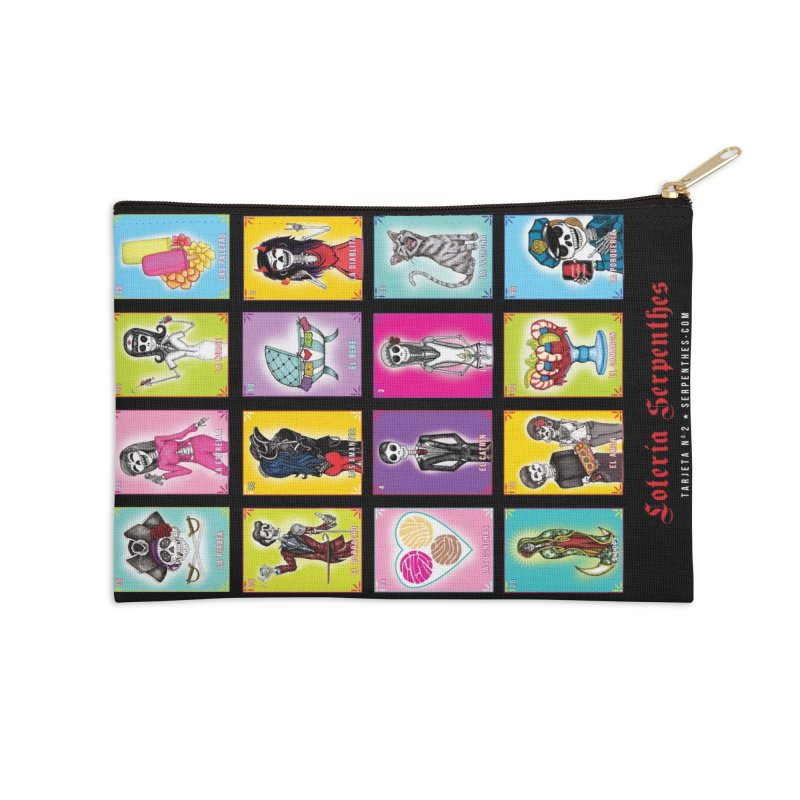 BLACK / Loteria Serpenthes, Card No. 2 Accessories Zip Pouch by serpenthes's Artist Shop
