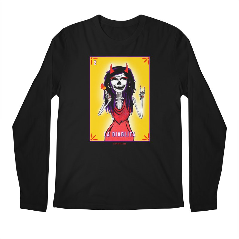 LA DIABLITA / Loteria Serpenthes Tile 2 Men's Regular Longsleeve T-Shirt by serpenthes's Artist Shop