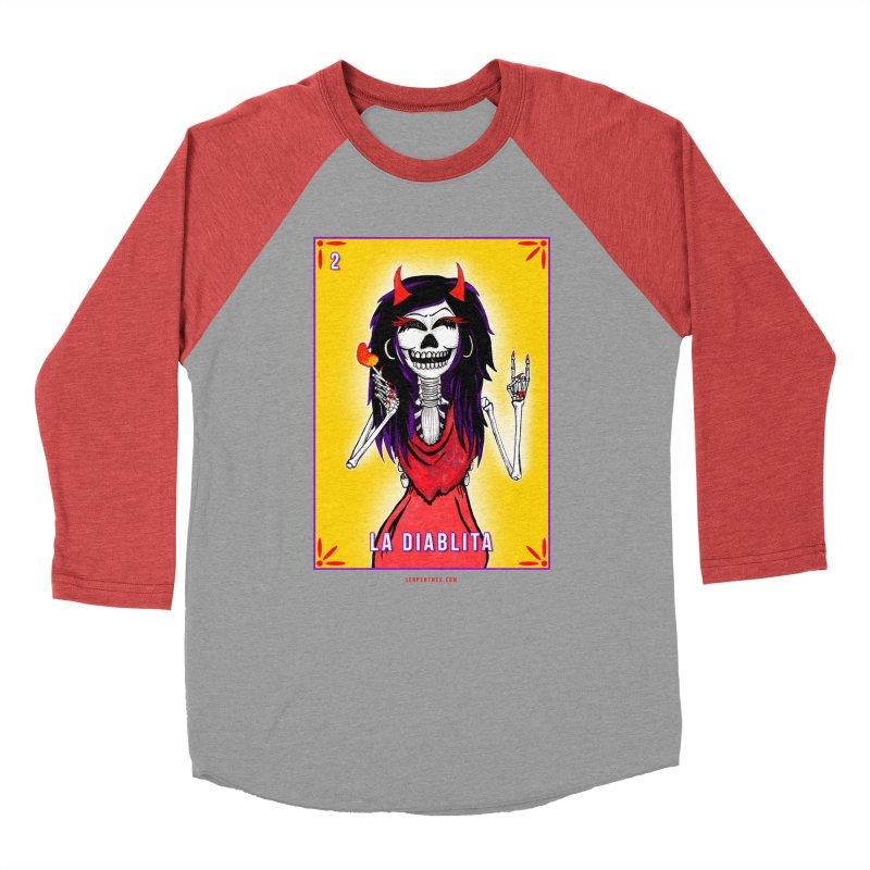LA DIABLITA / Loteria Serpenthes Tile 2 Women's Baseball Triblend Longsleeve T-Shirt by serpenthes's Artist Shop