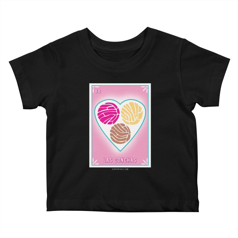 #88 LAS CONCHAS / Loteria Serpenthes Tile 88 Kids Baby T-Shirt by serpenthes's Artist Shop